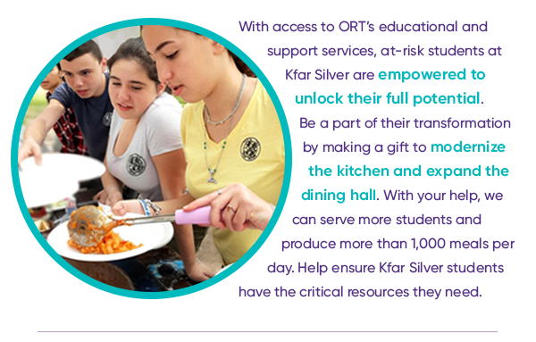 With access to ORT's educational and support services, at-risk students at Kfar Silver are empowered to unlock their full potential.